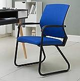 YCha Stühle Modegewebe gepolsterte Sitzfläche Atmungsaktive Rückenstube Empfangsstuhl Bürostudie Computerstuhl (5 Farben sind optional) Größe: 52 * 46 * 85cm (Farbe : C)