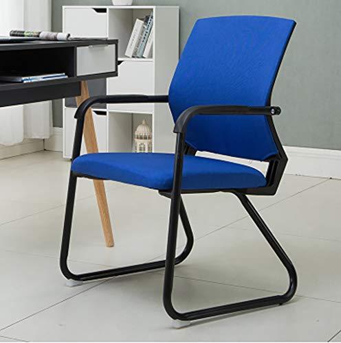 Chaises Surface d'assise rembourrée en tissu tendance Salle de réunion arrière respirante Chaise de réception Chaise d'ordinateur de bureau (5 couleurs en option) Taille: 52 * 46 * 85cm