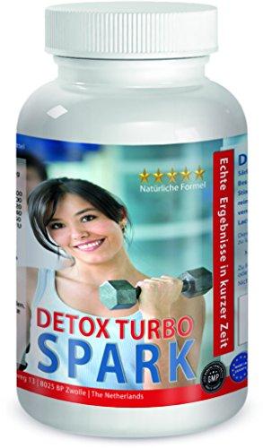 Detox Turbo Spark - 120 Kapseln - reicht 1 Monat - immunsystem, Stoffwechsel, Darmflora regulieren