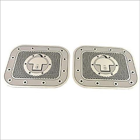 UZI- decoración adhesiva camión automóvil coche combustible a cuadros de pegatinas tapón del depósito (2pcs)