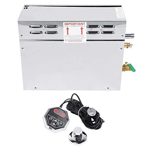 Elektrischer Sauna-Dampfgarer aus Edelstahl, digitaler Temperaturanzeigeregler TC-135 und TC-135-Regler(European 220V)