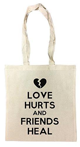 Love Hurts and Friends Heal Einkaufstasche Wiederverwendbar Strand Baumwoll Shopping Bag Beach Reusable
