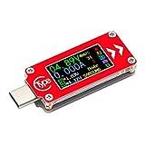 Droking USB-Typ-C-Meter, 3,7-30 V Digital Voltmeter Amperemeter Kapazität Temperatur Tester, Ampere Kapazität Temp Spannungsprüfer Multifunktionsmessgerät mit Farbe LCD-Bildschirm