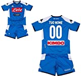 MINIKIT Gara Home Bambino (Maglia E Pantaloncino) SSC Napoli 19/20 Personalizzata Personalizzabile (8 Anni)