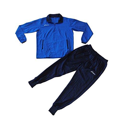 Asics Suit Brazil mens Herren Trainingsanzug Freizeitanzug Blau/Navy, Grösse:XL