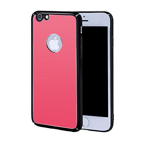 iPhone 7 Plus Coque,iPhone 7 Plus Coque en Dure PC Housse pour iPhone 7 Plus Gégradé Couleur Coloré Glitter Coque,ETSUE Coque Créativité Transparent Ultra-mince Solidité protéger pour Coque iPhone 7 P Rouge