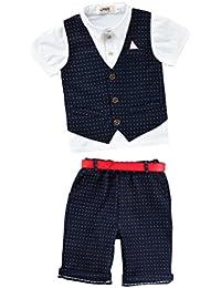 Zhuhaitf Mode 2 Piece Kids Children School Suit for Boys Boys Formal Wedding Blazer Suit Boys Suit Party Tuxedos 4124