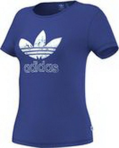adidas Originals Damen T-Shirt Slim Tee Blau