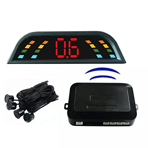 Goliton® 4 Parking Sensors Wireless LED Reverse auto del radar radar del estacionamiento con el zumbador + LED