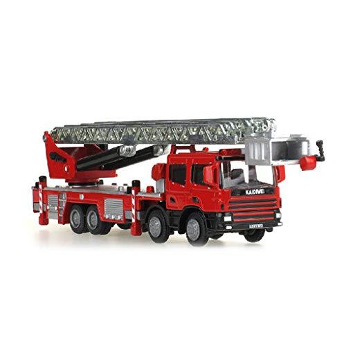 LIUFS-Coche De Aleación Coche De Ingeniería Modelo 1:50 Escalera De Metal Camión...