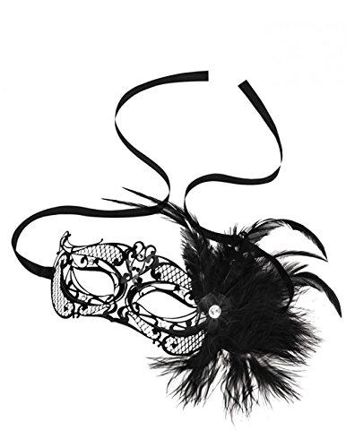 STEAMY SHADES Mardi Gras Mask with Feathers (Feather Gras Mardi Masken)