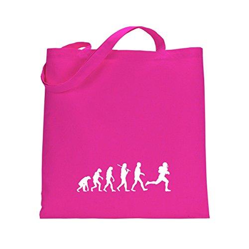 Shirtfun24 Baumwolltasche EVOLUTION AMERICAN FOOTBALL Spieler spielen, bottle (grün) fuchsia pink rosa