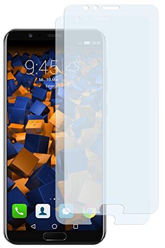 mumbi Schutzfolie kompatibel mit Huawei Honor View 10 Folie klar, Bildschirmschutzfolie (2x)