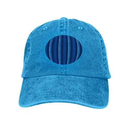 Vintage Trend Printing Cowboy Hat Fashion Baseball Cap for Men and Women Seamless Geometric Pattern Texture Multi coloblue Stripes scr Blue -