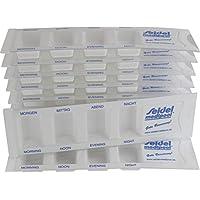 Preisvergleich für 10 Medikamentendispenser für 1 Tag m. 4 Fächern, Pillenbox, Tablettenbox, Medikamentenbox von Seidel medipool