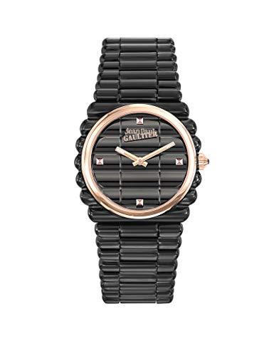Montre Femme - Jean Paul Gaultier - Bord Côte - Bracelet Acier PVD Noir - Cadran Rosé - 34mm - 8504104