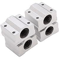 WINOMO 4pcs guida a movimento lineare cuscinetto a sfere SCS8UU CNC boccola (argento)