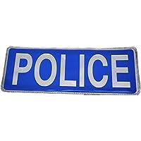 Blu polizia Distintivo Riflettente (Large) non Velcro