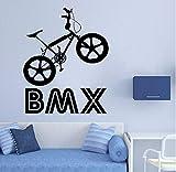 Lvabc Vinyle Art Amovible Affiche Murale Bmx Vélo Sport Bicyclette Saut Équitation...