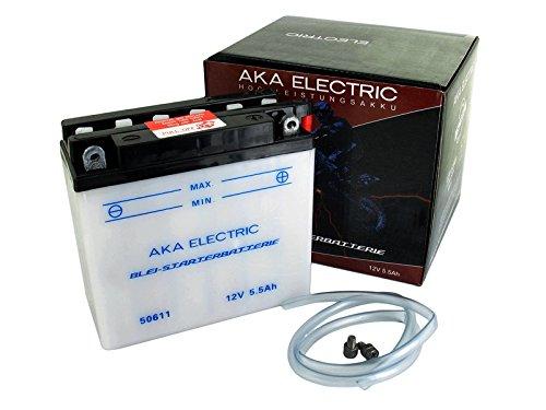 Preisvergleich Produktbild AKA Electric Batterie 12V 5, 5Ah AKA (ohne Säure) - für Simson S51,  S70,  S53,  S83
