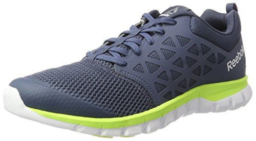 Reebok Sublite Xt Cushion 2.0 Mt, Chaussures de Running Entrainement Homme Gris (Smoky Indigo/electric Flash/white/pewter)