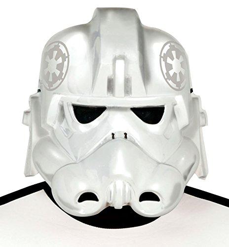 Maske weiß für Weltraum Soldat Kostüm für Herren Stern Krieger Space Ritter (Kostüme Sterne Herr)