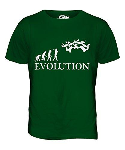 CandyMix Formationsspringen Fallschirmspringen Evolution Des Menschen Herren T Shirt Flaschengrün