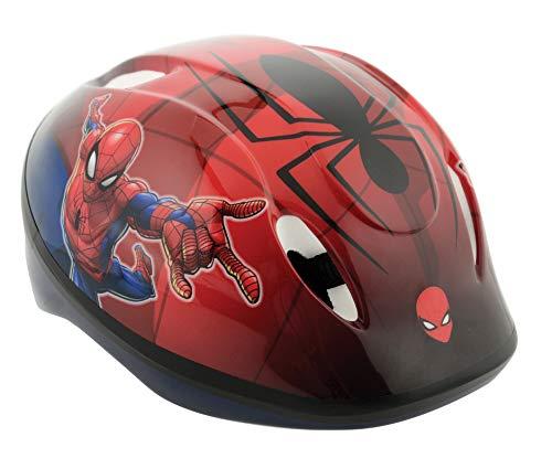 Spiderman - Casco de Seguridad para niños 48-54 cm, Color Rojo