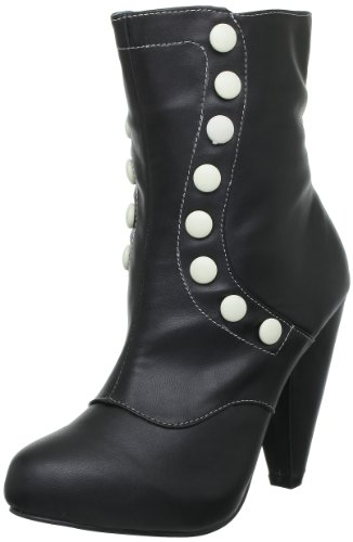Tuk - Stivali A8183L Donna, Nero (Schwarz (Noir (Black Cream Buttons))), 36