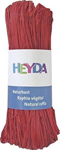 Heyda 204887791 Bast Naturbast (0 m x 0 mm,) rot