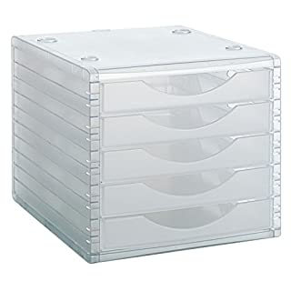 File 2000 4005 TL – MODULE, 5 Drawers, Translucido, Units Contained: 1