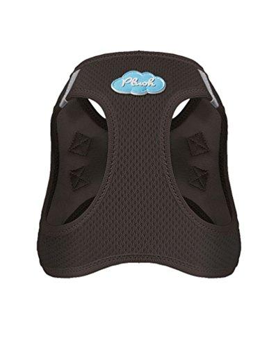 CURLI Brustgeschirr Plush Vest AIR-MESH brown für Hunde S (35 – 40 cm) - 2