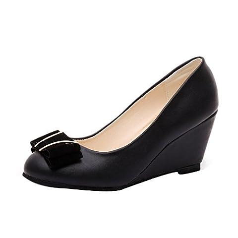 Printemps Été Chaussures talon compensé, Femmes Chaussures élégantes Bow Tie