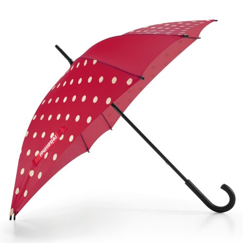 Reisenthel Umbrella Paraguas Plegable, 90 cm, (Ruby Dots)