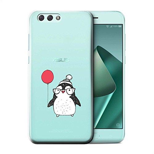 Stuff4® Hülle/Case für Asus Zenfone 4 ZE554KL / Ballon & Brille Muster/Süßer Doodle Pinguin Kollektion