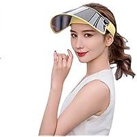 Zoylink Sombrero De Visera Sombrero para El Sol ProteccióN UV Plegable Sombrero De Sol De Verano Sombrero Al Aire Libre para Ciclismo Escalada Senderismo