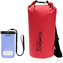 TOMSHOO Bolsas Estancas 10L/20L/40L (20L Rojo + Caja de Teléfono)