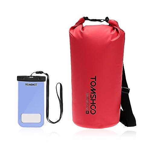 TOMSHOO Sac Etanche Poche Dry Bag Sac sec sac de rangement avec étui étanche pour Camping Nautique Kayak Pêche Rafting Canoë-kayak