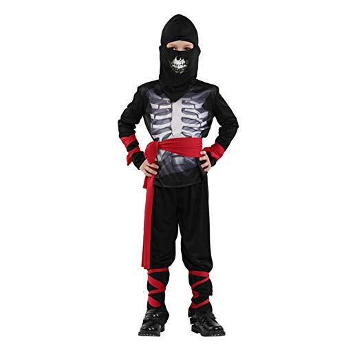 Candy Kostüm Skelett - Asdsda Halloween Kinderkleidung, Ninja Elf Kostüm, Skelett Kostüm, Geeignet Für Partys, Rollenleistung, Geeignet Für Größe 110-140cm,Black,L