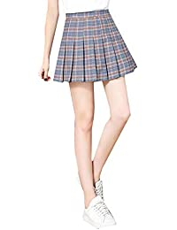 978dd968a0c Mishuo Falda Cuadros Escoceses Mujer Colegiala Japonesa Kawaii Faldas  Cortas Plisada Primavera Verano 2019