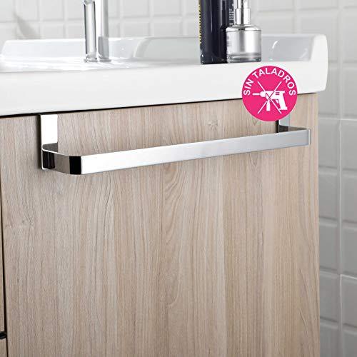 OXEN 321044 Toallero sin taladros para Mueble de baño (36 cm)