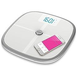 Koogeek Bilancia Intelligente Bluetooth Wifi per Il Corpo, 8 Statistiche di Misurazione, 16 Riconoscimento dell'Utente, Peso del Bambino
