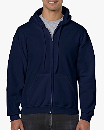 ?Gildan Adult Heavy Blend? Full-Zip Hooded Sweatshirt (Navy) (4X-Large) -