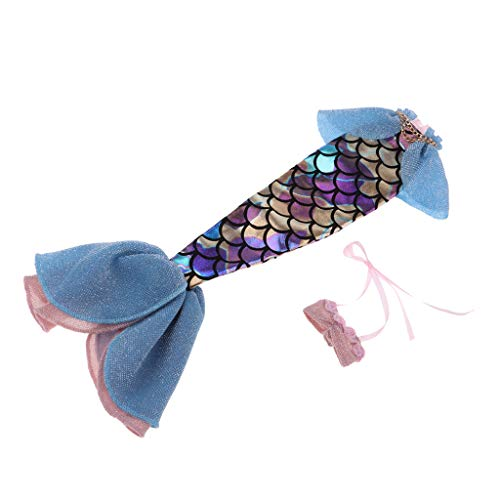 KESOTO Puppen Sommerkleldiung Meerjungfrau Schwanz Rock mit Top Oberteile Für 1/6 Blyth Puppe Dress up ( 2er-Set )