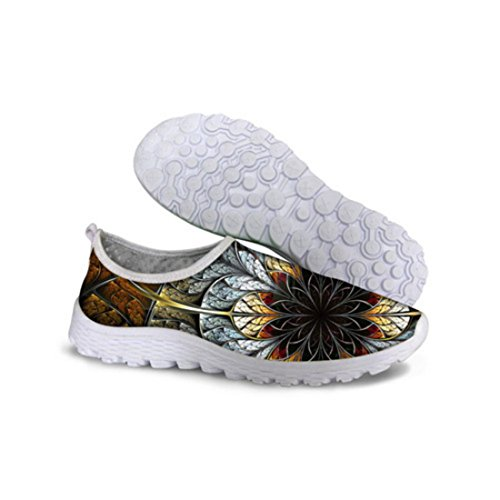 Unisex Breatable Flower Printed Athletic Running Shoes C0091AA