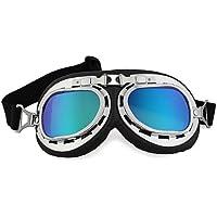 Dcolor Gafas Lente Lens Tipo Aviador contra Viento UV para Moto Harley