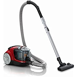 Philips FC8474/02 1.5-Litre Powerpact Compact Bagless Vacuum Cleaner (Red)