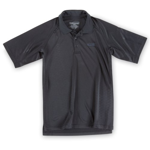 5.11 Herren Performance Polo Short Sleeve Shirt mit Emblem schwarz