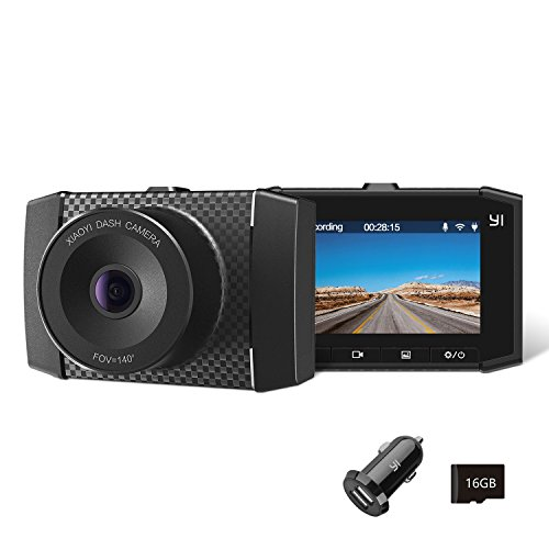 "YI Ultra Dash Cam Full HD 2.7K Car Camera with MEMS 3-Axis G-Sensor, Voice Control, Dual-Core Processor and 2.7"" LCD Screen (Black)"