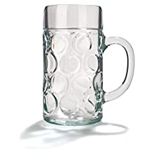 Stoelzle Chope à bière classique en verre 1L (2 pint)
